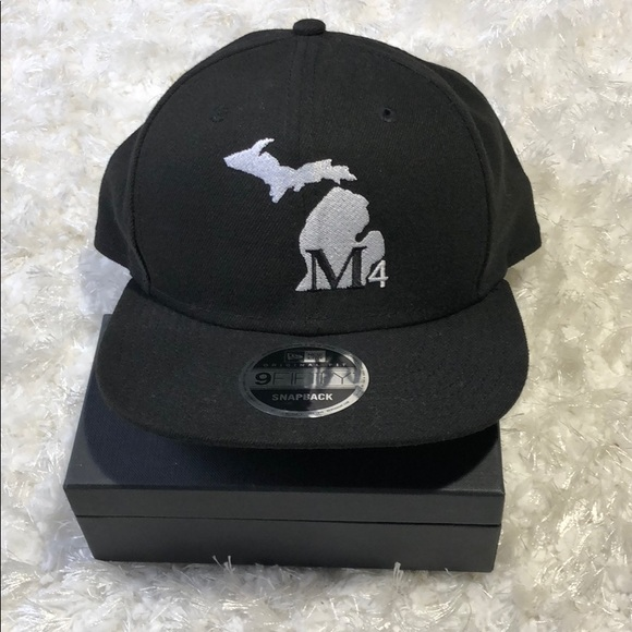 61af6a4e7 New Era 9fifty Black Michigan M4 SnapBack Org Fit